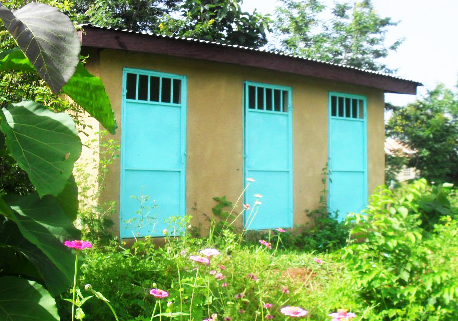 New well and toilets in village of Kankalabe
